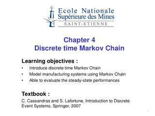Chapter 4 Discrete time Markov Chain
