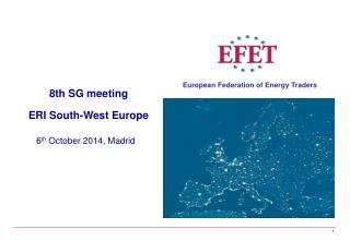 8th SG meeting ERI South-West Europe