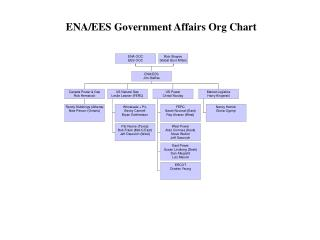ENA/EES Government Affairs Org Chart