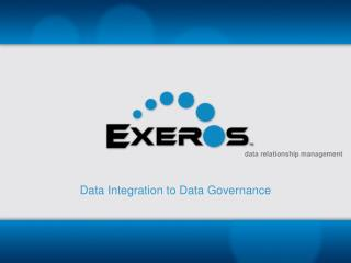 Data Integration to Data Governance