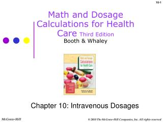 Math and Dosage Calculations for Health Care Third Edition Booth & Whaley