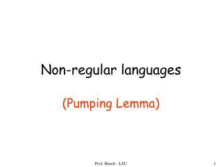 Non-regular languages