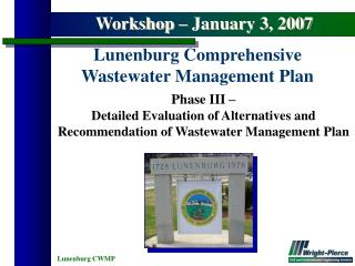 Phase III –  Detailed Evaluation of Alternatives and Recommendation of Wastewater Management Plan
