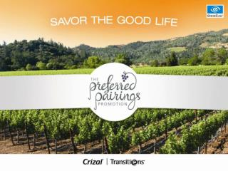 The Preferred Pairings Promotion  Essilor's 2011 National Promotion