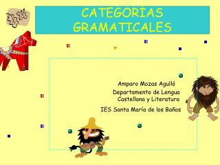 CATEGOR AS GRAMATICALES