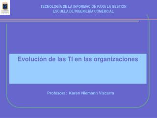 Evolución de las TI en las organizaciones