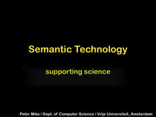 Semantic Technology