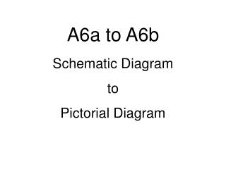 A6a to A6b Schematic Diagram to  Pictorial Diagram
