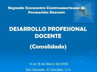 Segundo Encuentro Centroamericano de Formación Docente
