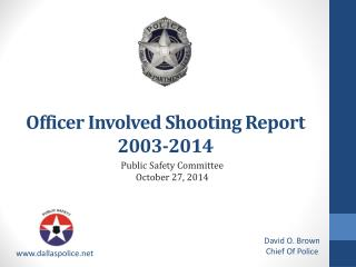 Officer Involved  Shooting Report 2003-2014