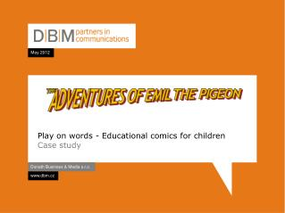 Play on words  -  Educational comics for children Case study