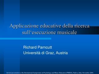 Applicazione educative della ricerca sull'esecuzione musicale