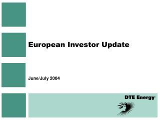 European Investor Update