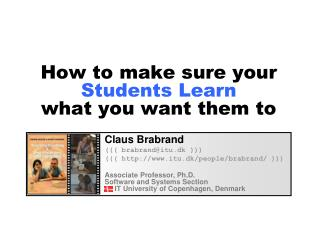 How to make sure your  Students Learn  what you want them to