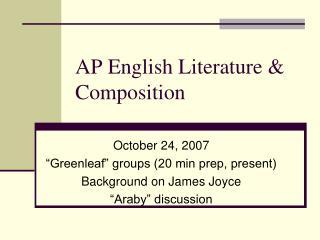 AP English Literature & Composition