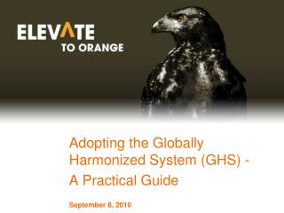 Adopting the Globally Harmonized System (GHS) - A Practical Guide September 8, 2010