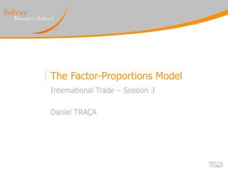 The Factor-Proportions Model