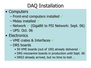 DAQ Installation