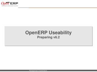 OpenERP Useability Preparing v6.2