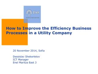 How to Improve the Efficiency Business Processes in a Utility Company