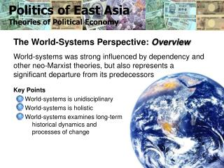 Politics of East Asia Theories of Political Economy