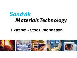 Extranet - Stock information