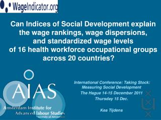 International Conference: Taking Stock: Measuring Social Development