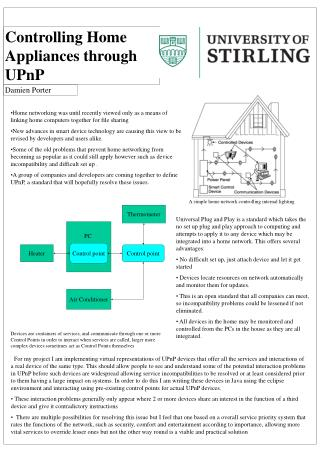 Controlling Home Appliances through UPnP