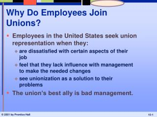 Why Do Employees Join Unions?