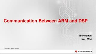 Communication  Between  ARM and DSP