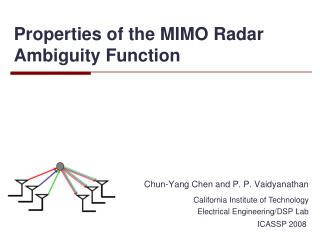 Properties of the MIMO Radar Ambiguity Function