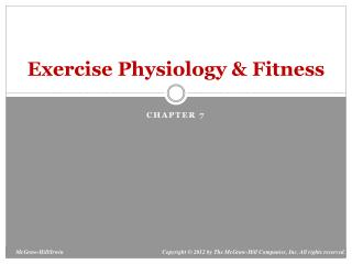Exercise Physiology & Fitness