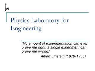 Physics Laboratory for Engineering