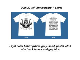 Light color t-shirt (white, gray, sand, pastel, etc.) with black letters and graphics