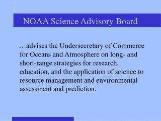 NOAA Science Advisory Board
