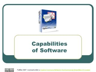 Capabilities  of Software