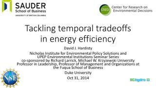 Tackling temporal tradeoffs in energy efficiency