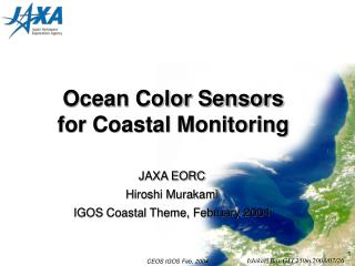 Ocean Color Sensors for Coastal Monitoring