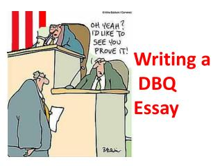 Writing a  DBQ Essay