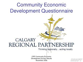 Community Economic Development Questionnaire