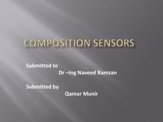 Composition sensors