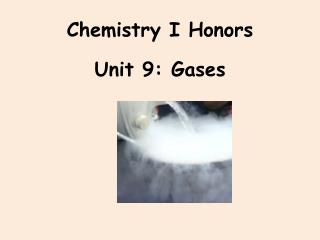 Chemistry I Honors
