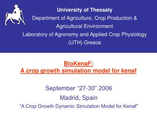 BioKenaF:  A crop growth simulation model for kenaf
