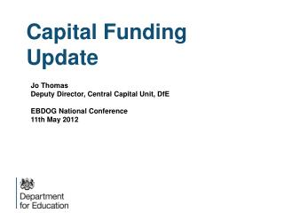 Capital Funding Update