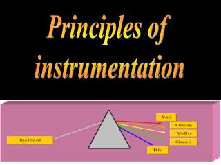 Principles of  instrumentation