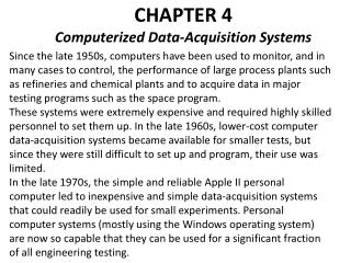 CHAPTER 4 Computerized Data-Acquisition Systems