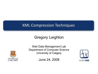 XML Compression Techniques