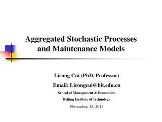 Aggregated Stochastic Processes and Maintenance Models