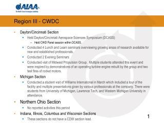 Region III - CWDC