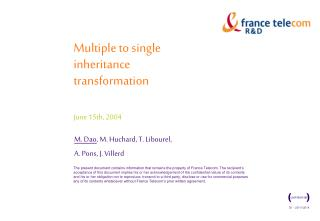 Multiple to single inheritance transformation June 15th, 2004